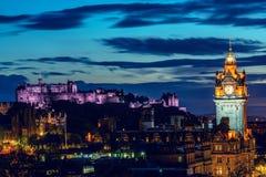 Edimburgo na noite imagens de stock