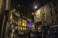 Edimburgo por noche Fotografía de archivo libre de regalías