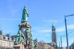 Edimburgo, Reino Unido - 6 de abril de 2015 - estátua no lugar de Shandwick no Foto de Stock Royalty Free