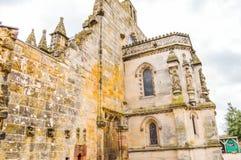 Edimburgo, Reino Unido - 6 de abril de 2015 - opinião da capela de Rosslyn Fotos de Stock