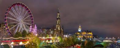 Edimburgo, Scotalnd, Regno Unito - 14 novembre 2016: Orizzonte di Edimburgo fotografia stock