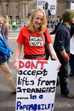 Edimburgo, Scotland 16.09.2010, anti protesto do papa Imagens de Stock