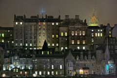 Edimburgo, Scotland, cidade velha, edifícios medievais Fotografia de Stock