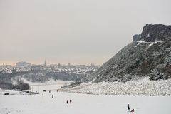 Edimburgo, Scotland, Reino Unido, skyline, imagem de stock royalty free