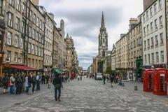 Edimburgo, unido Sept do reino 19, 2011: Oldtown fotos de stock