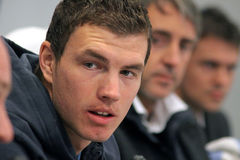 Edin Dzeko of Manchester City Royalty Free Stock Image