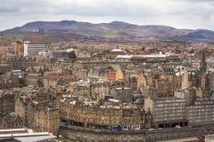 Edinburg horisont, Skottland Arkivbilder