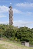Edinburg på en solig dag Arkivfoton