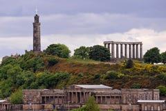 Edinburg på en solig dag Fotografering för Bildbyråer