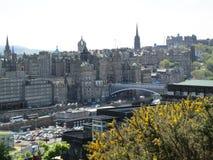 Edinburg Skottland landskap Royaltyfri Foto