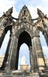 Edinburg Skottland, Scott Monument Arkivfoton