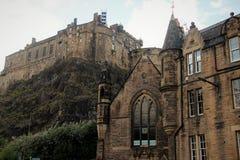 Edinburg slotten royaltyfri bild