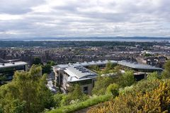 Edinburg un giorno soleggiato Immagini Stock