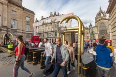 Edinburgfransmötesplats Royaltyfri Fotografi