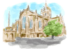 edinburgh royaltyfri illustrationer