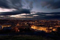 Edinburgh alla notte Fotografia Stock