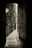 Edinburgh alley sepia Royalty Free Stock Images