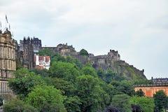 Edinburgh, Ansicht der Stadt, einiger Monumente und des Schlosses, Lizenzfreie Stockfotos