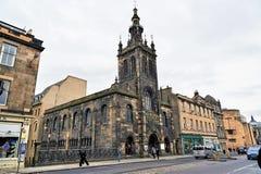 Edinburgh, Ansicht der Stadt, einiger Monumente und des Schlosses, Stockfotografie