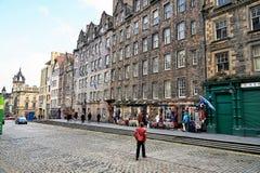 Edinburgh, Ansicht der Stadt, einiger Monumente und des Schlosses, Stockbilder