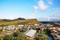 Edinburgh, Ansicht der Stadt, einiger Monumente und des Schlosses, Lizenzfreies Stockfoto