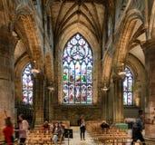 Interior of St. Giles` Cathedral in Edinburgh, Scotland Stock Photo