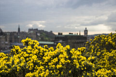 Edinburgh. A beautiful view from Calton Hill. In background - part of Edinburgh Stock Photo