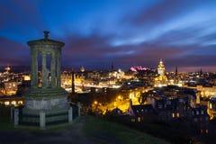 Edinburgh bij nacht Stock Afbeelding