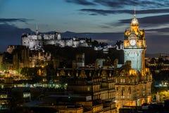 Edinburgh bij nacht stock afbeeldingen