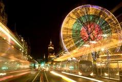 Edinburgh bij nacht stock fotografie