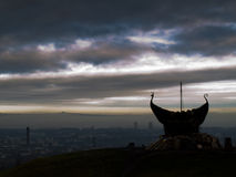 Edinburgh bonfire viking ship Royalty Free Stock Photography