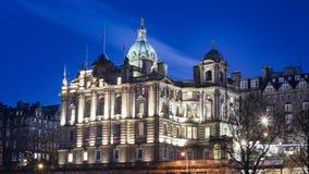 Edinburgh. Building lit up in the winter night sky, Edinburgh Stock Photography