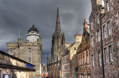 Edinburgh Buildings in Sunset Royalty Free Stock Photography