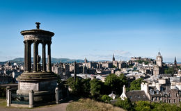 Edinburgh from caltol hill. By the memorial Royalty Free Stock Image