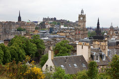 Edinburgh from Calton Hill Stock Image