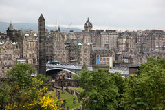 Edinburgh from Calton Hill Stock Photography