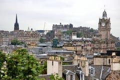 Edinburgh from Calton Hill including Edinburgh Castle and Scott Royalty Free Stock Images