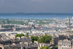 Edinburgh from Calton Hill looking towards the Firth of Forth Stock Photography