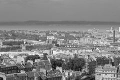 Edinburgh from Calton Hill looking towards the Firth of Forth Royalty Free Stock Images