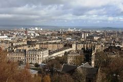 Edinburgh from Calton Hill looking towards Leith Royalty Free Stock Photography