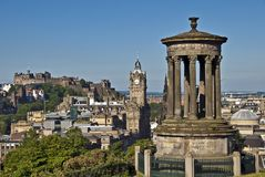 Edinburgh from Calton Hill in the morning royalty free stock photography