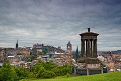 Edinburgh from Calton Hill, Scotland Stock Images