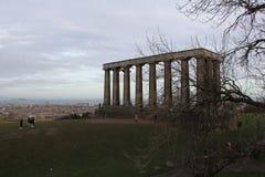 Edinburgh Calton Hill Scotland. The ancient monument at Edinburgh Calton Hill Scotland Stock Image