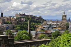 Edinburgh from Calton Hill, Scotland Stock Photo