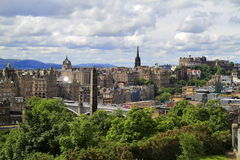 Edinburgh from Calton Hill, Scotland Stock Image
