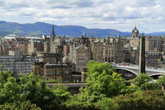 Edinburgh from Calton Hill, Scotland Royalty Free Stock Photos