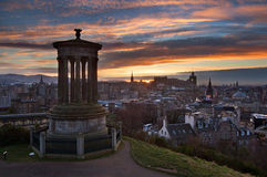 Edinburgh Calton Hill Stock Photo