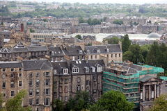 Edinburgh from Calton Hill , UK Royalty Free Stock Image