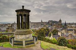 Edinburgh from Carlton Hill Stock Images