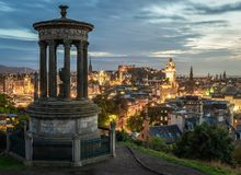 Edinburgh Carlton Hill Sunset stockfoto